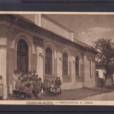 VALENII DE MUNTE - ORFELINATUL NICOLAE IORGA CIRCULATA 1922 - Carte Postala Muntenia dupa 1918, Printata