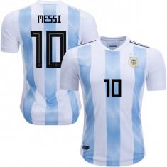 Tricou ARGENTINA, 10 MESSI, model 2018 - Echipament fotbal, Marime: XL, L, M, S, XS, Tricou fotbal