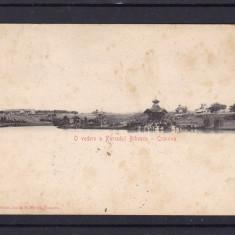 CRAIOVA  O VEDERE A PARCULUI  BIBESCU EDITURA IONITA M. PLESA CLASICA CIRC. 1905, Necirculata, Printata