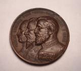 Medalie Regele Carol I Cuza Voda si Sturdza Voda Academia Mihaileana IASI