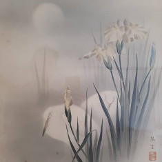 Acuarela China - Pasari si flori II