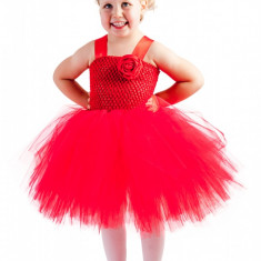 Rochita nunta copii :Lady in red, Handmade in Romania, varsta 2-3 ani