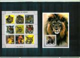 Guinea - Fauna - Feline  - BL + KB - MNH, Nestampilat
