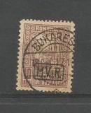 (No9)Romania-Timbru De Ajutor 10 bani Brun ,supratipar Negru Mvir in caseta 1917, 1900-1950