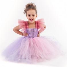 Rochita copii tutu Printesa din castel, 4-5 ani, Handmade in Romania