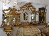 Oglinda veche/anticariat/sec 19,stil baroc/ludovic,lemn mahon,foita aur,2,15 m, 1800 - 1899
