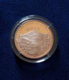 Moneda proof 1 leu 2017 - Introd. iluminatului public cu petrol in Bucuresti