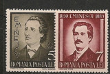 Romania 1939 - MIHAI EMINESCU, serie nestampilata cu SARNIERA, PT13, Nestampilat