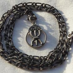 MEDALION argint OMUL LIBER simbol BERBER TRIBAL vechi RAR pe Lant argint VECHI