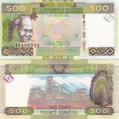 Guinea 500 Francs 2015 UNC