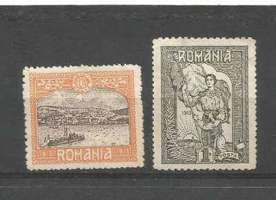 (No9)-timbre-(LP 227)-Romania 1913 - SILISTRA-deparaiate foto