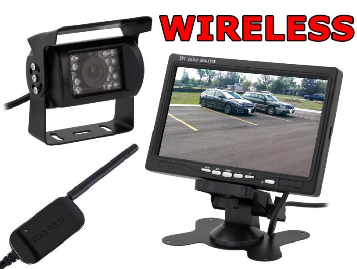 Set de Mers Inapoi Auto Wireless - Camera Video Marsarier cu Display LCD 7 Inch si Wi-Fi, Montare Rapida foto mare