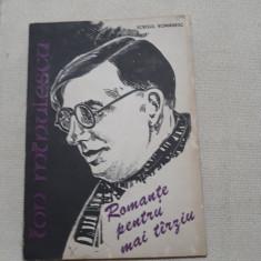 Romante pentru mai tarziu- Ion Minulescu