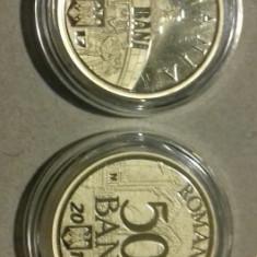 Set 50 Bani 2017 Proof in caps transp - Moneda Romania
