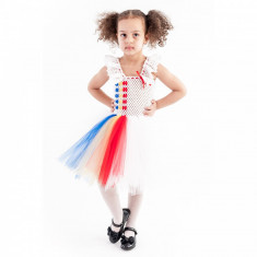 Rochita copii tutu Romancuta, 6-7 ani, Handmade