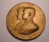 Medalie Logodna Principelui Ferdinand cu Maria 1892 Piesa Deosebita