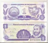 Bnk bn Nicaragua 1 centavo 1991 necirculata