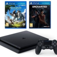 Consola Sony PlayStation 4 Slim 1TB + Horizon Zero Dawn + Uncharted: The Lost Legacy - Consola PlayStation
