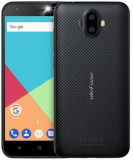 Telefon mobil Ulefone S7 PLUS, Procesor Quad-Core 1.3GHz, IPS 5inch, 2GB RAM, 16GB Flash, Camera Duala 8MP+5MP, Wi-Fi, 3G, Dual Sim, Android (Negru)