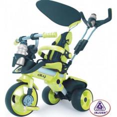 Tricicleta pentru copii Injusa City Green - Tricicleta copii