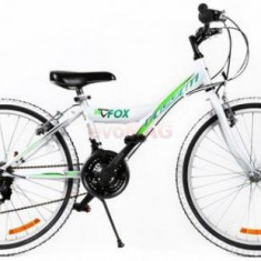 Bicicleta MTB Passati Fox, Roti 24inch (Alb/Verde) - Mountain Bike