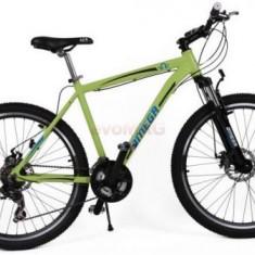 Bicicleta Omega Hawk, Roti 26inch, 21 viteze (Verde)