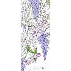 Fantezii florale - Colorez semnele mele de carte - Semn de carte