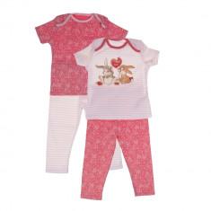 Set 2 perechi pijamale pentru copii Disney roz