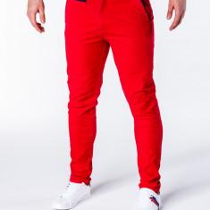 Pantaloni pentru barbati, rosu, slim fit, casual, elegant, model nou - P646