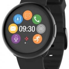 Smartwatch MyKronoz ZeRound 2, Ecran Touchscreen TFT 1.22inch, 64MB RAM, 256MB Flash, Bluetooth, Bratara Silicon, Rezistent la apa si praf (Negru)