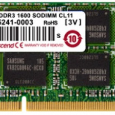 Memorie Laptop Transcend TS512MSK64V3N DDR3, 1x4GB, 1333MHz, CL9, 1.5V - Memorie RAM laptop