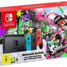 Consola Nintendo Switch + Joc Splatoon 2 (Joy-Con Neon Rosu/Albastru)