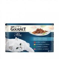 Gourmet Perle 4x85g Vita, Pui, Iepure, Somon - Hrana pisici