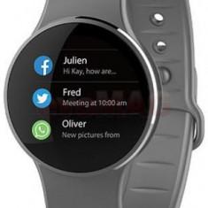 Smartwatch MyKronoz ZeCircle 2, TFT Capacitive touchscreen, Bluetooth, Rezistent la apa si praf (Gri)