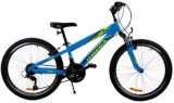 Bicicleta Omega Gerald, Roti 24inch, 18 viteze (Albastru)