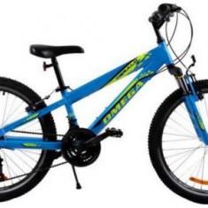 Bicicleta Omega Gerald, Roti 24inch, 18 viteze (Albastru) - Bicicleta copii