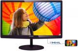Monitor IPS LED Philips 23.6inch 247E6QDAD, Full HD (1920 x 1080), DVI-D, MHL-HDMI, 5ms GTG, Boxe (Negru), 23.6 inch