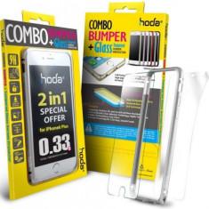 Bumper Hoda Taiwan GBO-IP6P-SL, folie de sticla fata+folie spate, pentru iPhone 6 Plus/6S Plus (Argintiu) - Husa Telefon