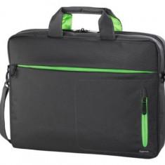 Geanta Laptop Hama Marseille Style 15.6inch (Negru/Verde)
