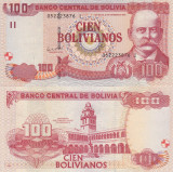 Bolivia 100  Bolivianos 28.11.1986 UNC