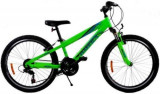 Bicicleta Omega Gerald, Roti 24inch, 18 viteze (Verde)