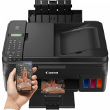 Multifunctional Canon PIXMA G4400 Inkjet, A4, 8,8 ppm, Fax, Retea, Wireless, ADF, CIS (Negru)