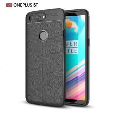 Husa OnePlus 5T - Tpu Grain - Husa Telefon OnePlus, Universala, Negru, Gel TPU