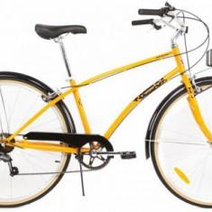 Bicicleta Pegas Popular, Cadru 16inch, Roti 28inch, 7 viteze (Portocaliu) - Bicicleta de oras