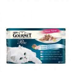 Gourmet Perle 4x85g Marin - Hrana pisici