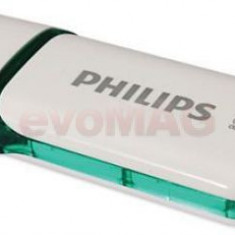 Stick USB Philips Snow Edition FM08FD70B/10, 8GB, USB 2.0 (Alb/Verde)