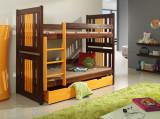 Pat etajat din lemn masiv Yoyo
