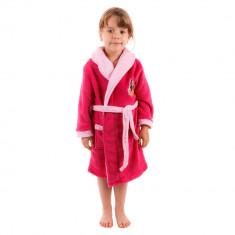 Halat de baie fete Soy Luna fuxia - Prosop baie copii