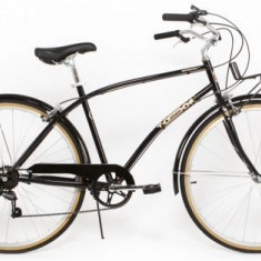 Bicicleta Pegas Popular, Cadru 19inch, Roti 28inch, 7 viteze (Negru) - Bicicleta de oras