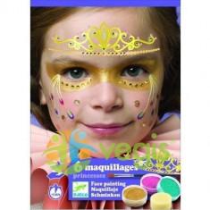 6 Maquillages, Princesses. Atelier creativ pictura pe fata, Printese - Jocuri Logica si inteligenta